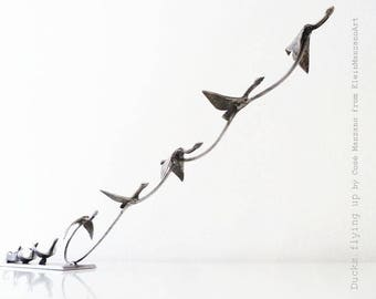 Metal art, Animal sculpture, Contemporary, BIRDS, FLYING, Movement, Wings, Freedom, Original art, One of a kind, Home decor, by Cosé Manzano