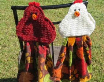 Fall Chicken Kitchen Towel  Hot Pad