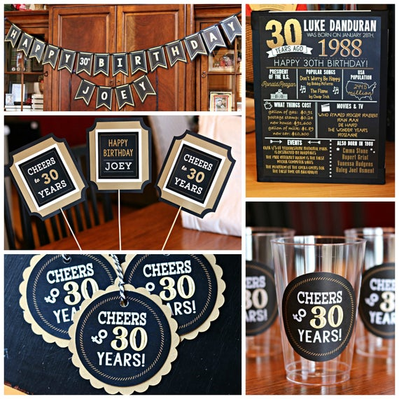 30TH BIRTHDAY PARTY Decorations 30th Party Banner