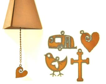 Rusty Wind Chime With Trendy Charm Assortment