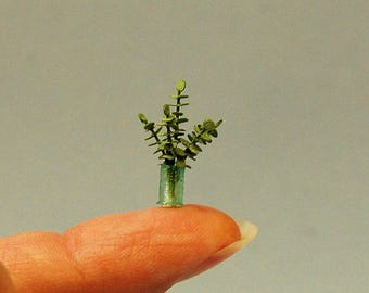 1/4 inch scale miniature-Eucalyptus Branches in a Vase