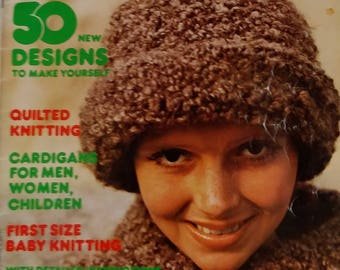 Mon tricot Knitting and Crochet Magazine Chunky Knits Women Children Hats Scarves Cushions Throws Nativity Set Cardigans Seasonal Knits