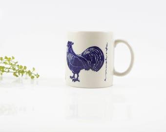 Vintage Taylor & NG 1979 Blue LE COQ Rooster Mug Japan