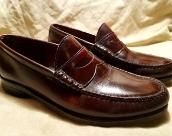 VTG Men's Aristocraft Johnston Murphy Penny Loafers size 11.5 E  Made In The USA