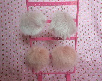 Puffball Earrings - Kawaii ~ Lolita ~ Harajuku