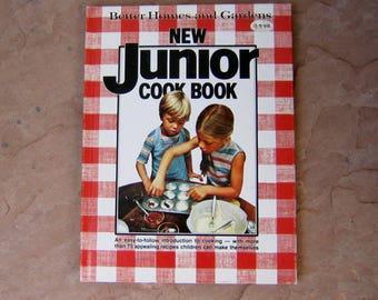New Junior Cookbook, Better Homes and Gardens New Junior Cook Book, 1979 Vintage Kids Cookbook