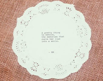 Pretty Memories Typewriter Doily