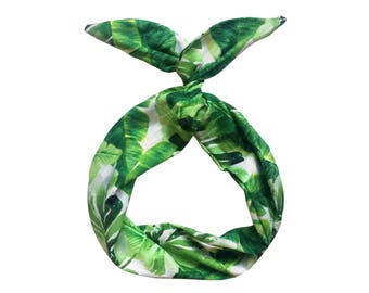 Green Palm Tree Wire Headband by Byrd
