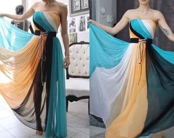 Chiffon Evening Dress , Long  Dress,Cocktail Dress,Party dress