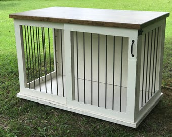 cage furniture. custom dog kennel crate furniture sliding door bed cage