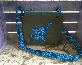 Lennox Children's Flightsuit Bag- Blue/Aqua Leaf Print
