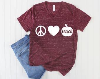 Teacher Shirt/ First day of School Shirt/ Kindergarten Teacher/ 1st Grade Teacher/ Grades School Teacher/ Teaching Shirt/ Apple Shirt/ Gift