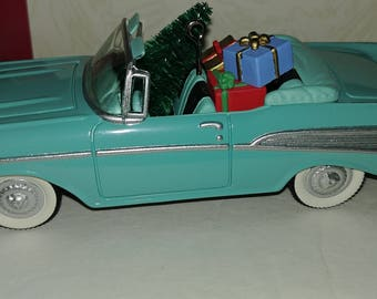 Hallmark Ornament 1957 Chevrolet Bel-Air Light Blue 4th in Classic American Cars Series Vintage dated 1994