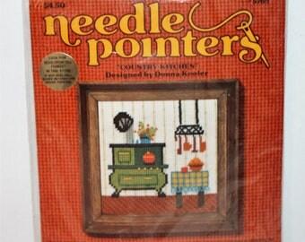 Sunset Designs Needlepointers kit 5760 Dining Room Sealed Vintage 1976