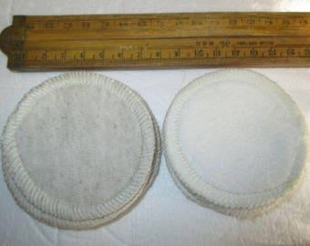 12 x Eco Friendly Bamboo Hemp Fleece/Jersey 7cm diameter - Reusable Mini Facial Makeup Remover Pads/Scrubbies - Australian Made