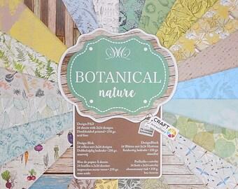 "Set of 12 leaves duplex 30, 5 x 30, 5 cm ""Botanical"" nature scrapbooking"
