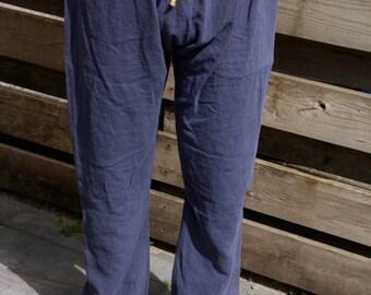 Thorsberg trousers linen - blue