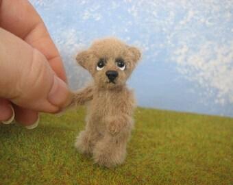 """cute Miniature Teddybear, bear, teddy, artist teddy,  """"Andrè"""" OOAK  Pippibear, 2,17 inches (5,5cm)"""