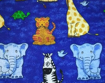Blue Jungle Animal Fabric