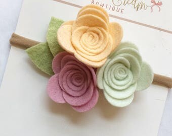 Rose Headband, Felt Flowers, flower headbands
