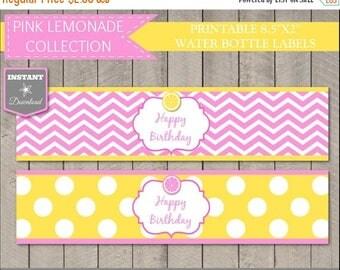 SALE INSTANT DOWNLOAD Pink Lemonade Printable Water Bottle Labels / Wrappers / Diy Printables / Pink Lemonade Collection
