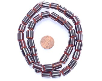African old strand glass trade beads