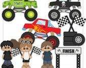 DIGITAL SCRAPBOOKING CLIPART - Monster Rally