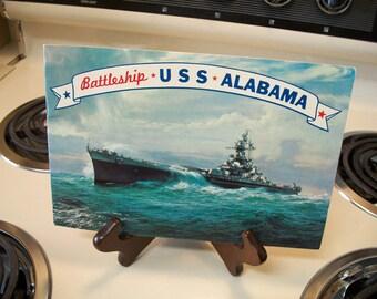 Battleship USS Alabama book, travel brochure, vintage Battleships, Battleship USS Alabama