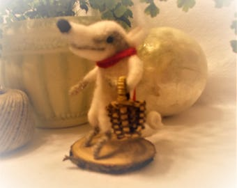 T. T. Badger Is Full Of Personality And Fun A Needle Felted Soft Sculpture Miniature Collectible Home Decor