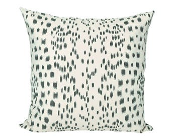 Les Touches Black designer pillow cover - Brunschwig & Fils fabric - 1 SIDED OR 2 SIDED - Choose Your Size