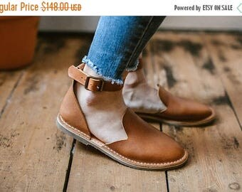 SALE 20% OFF: Leather Shoes, Leather Sandals, Light Brown Sandals, Women Sandals, Loafers, Flat Shoes, Women Shoes, Summer Shoes, Slip Ons