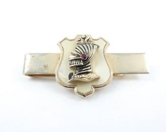 Vintage Swank Knight Tie Bar, Crest, Signed, V15