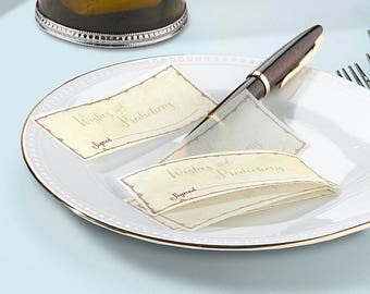 36 x Wedding Message Signing Papers Wishes Guest Book Alternative Reception Decorations Supplies
