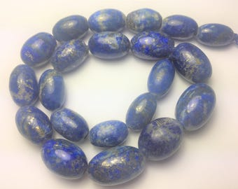 Natural Polished Lapis Lazuli Beads Strand Necklace Afghanistan