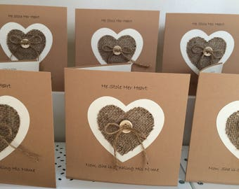 He stole her heart, now she is stealing his name wedding invitations x 10