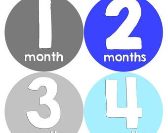 Monthly Baby Milestone Stickers Baby Boy Baby Shower Gift One-Piece Baby Stickers Monthly Baby Stickers Baby Month Sticker 235