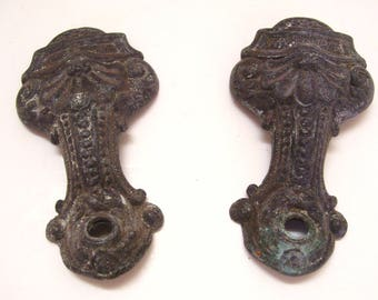 Antique Lamp Parts Wall Sconce Repair Pair of Metal Arms Vintage Lighting Restoration