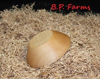 Small Figured Maple Wood Bowl - #7
