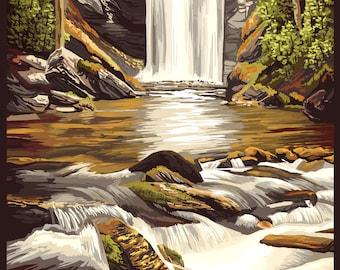 Pisgah National Forest, North Carolina - Lantern Press Artwork (Art Print - Multiple Sizes Available)