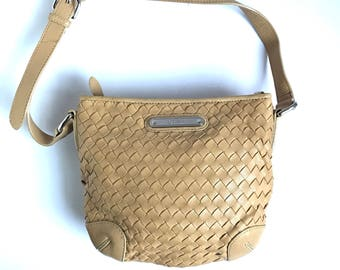 Vintage Leather Purse. Woven Leather Bag. Butternut Leather Bag. Leather Shoulder Bag. Small Leather Bag. Leather Handbags. Leather Bags