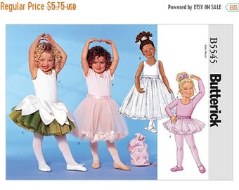 Butterick B5545, Children's/Girls' Leotards, Skirts, Bag and Ponytail Holder, Tu-Tu, Fairy Costume, Ballet clothes