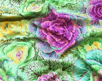 Brassica in Moss Green PWPJ051.MOSSX Philip Jacobs Kaffe Fassett Collective Classics Free Spirit Fabric