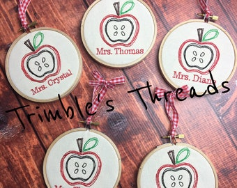 Teacher Gifts / Teacher Ornament / Teacher Appreciation / Teacher Christmas Gift / Teacher Apple