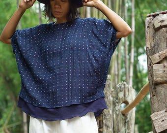 boho top, festival top, indigo top, boho blouse, boho hippie clothes, maternity shirts, cotton boho top, gypsy cotton top, preggers shirt