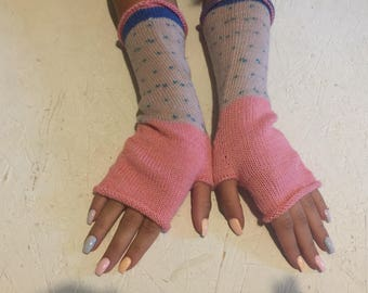 women fingerless gloves long gloves gift Mittens Long Arm Warmers Boho Glove Women Fingerless Wrist long arm warmers Ready to ship!