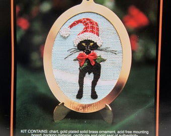P Buckley Moss 1997 Christmas Ornament Counted Cross Stitch Kit