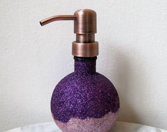 glitter glass ball soap dispenser lotion dispenser metal soap dispenser pumps in stainless steel - Soap Dispenser Pumps