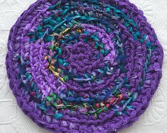 Crochet Trivet/ Hot Pad/ Rag Rug