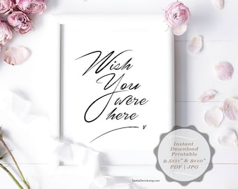 Instant download Printable In Loving Memory, Wedding Memorial Table Sign, Memory Sign, Wish you were here (c0206)