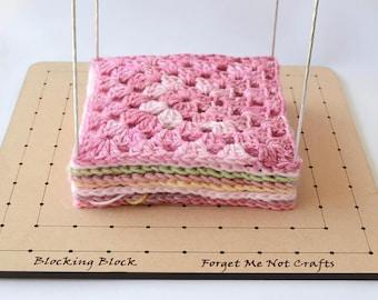 Crochet Blocking Board - Granny Square blocking board